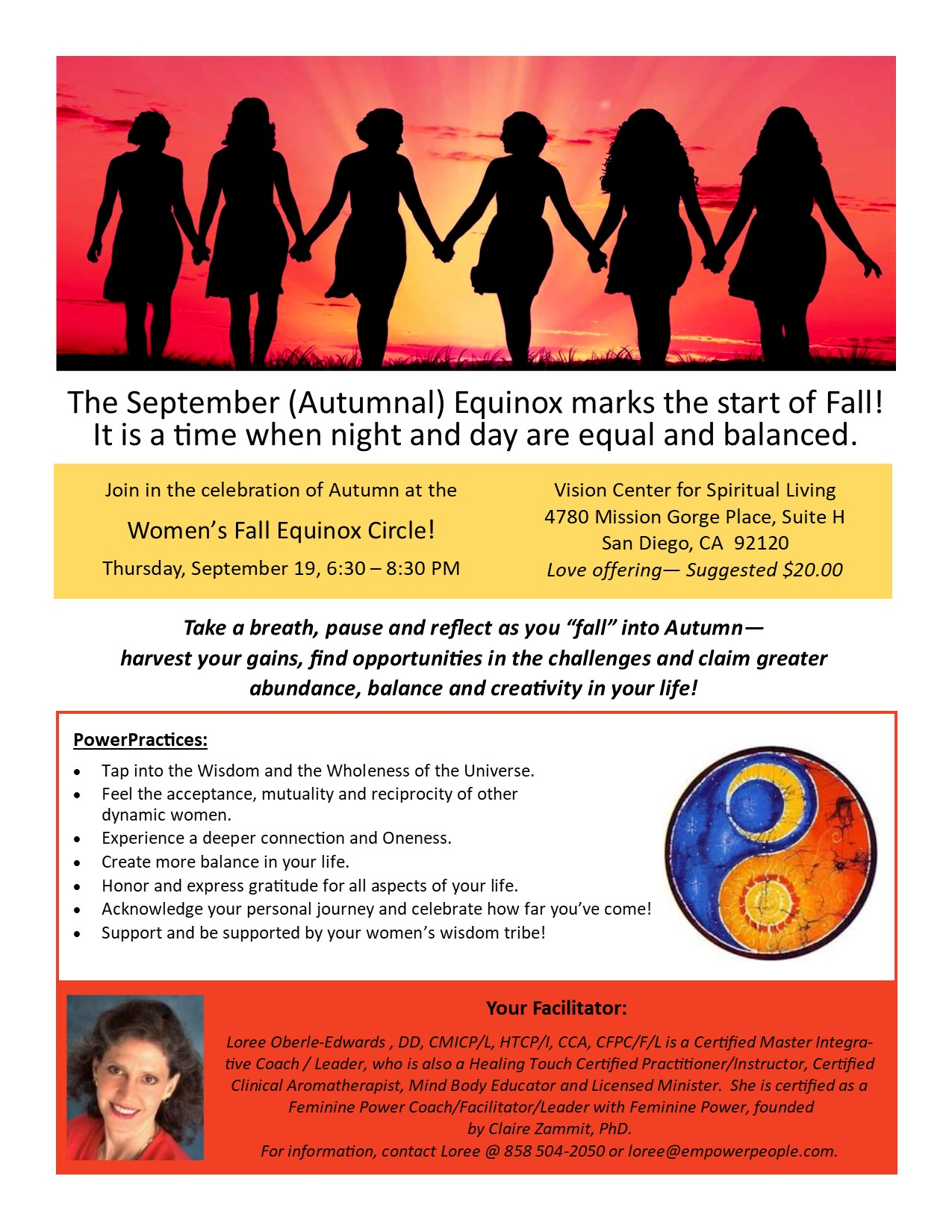 Womens Fall Equinox Circle Flyer Loree Oberle Edwards 9 19 2019